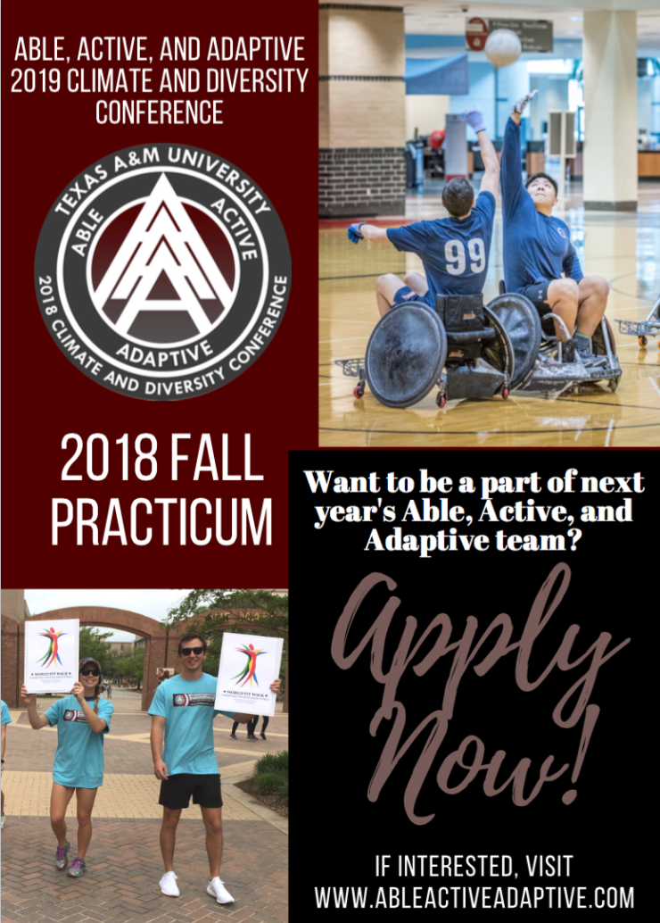 Apply to be apart of next year's Able, Active, and Adaptive team!